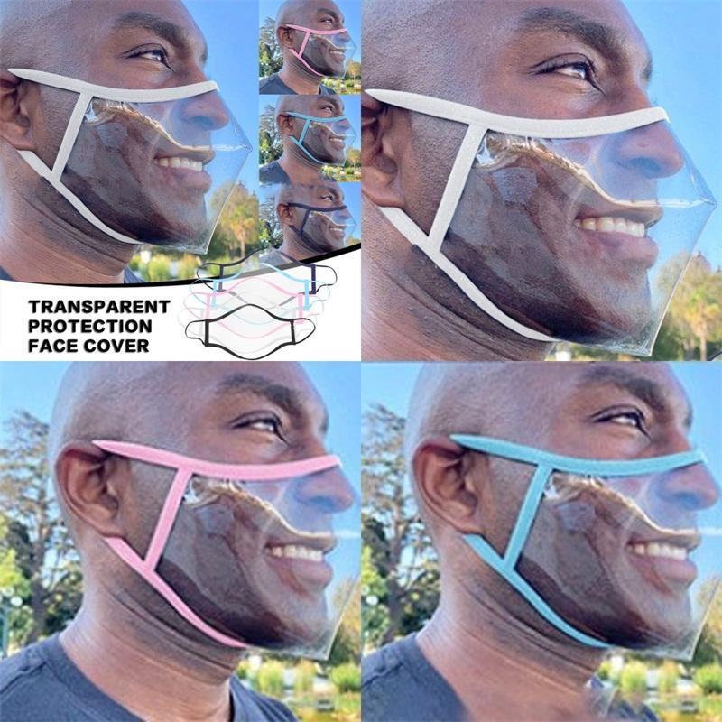 3d Full Transparency Lip Language Mascarilla Clear Dust Face Masks Washable Plastic Reusable Respirator Fashion Adult Kids 4 5qx C2
