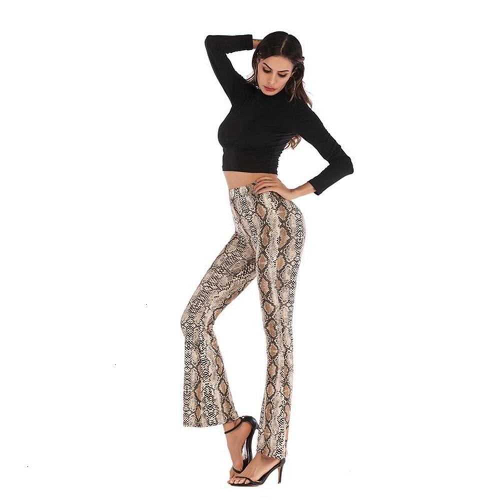Chic High Waist Elastic Waistband Leopard Print Flare Pants Soft Comfortable Leggings Pants Women Sexy Stretchy Bodycon Trousers MT2924