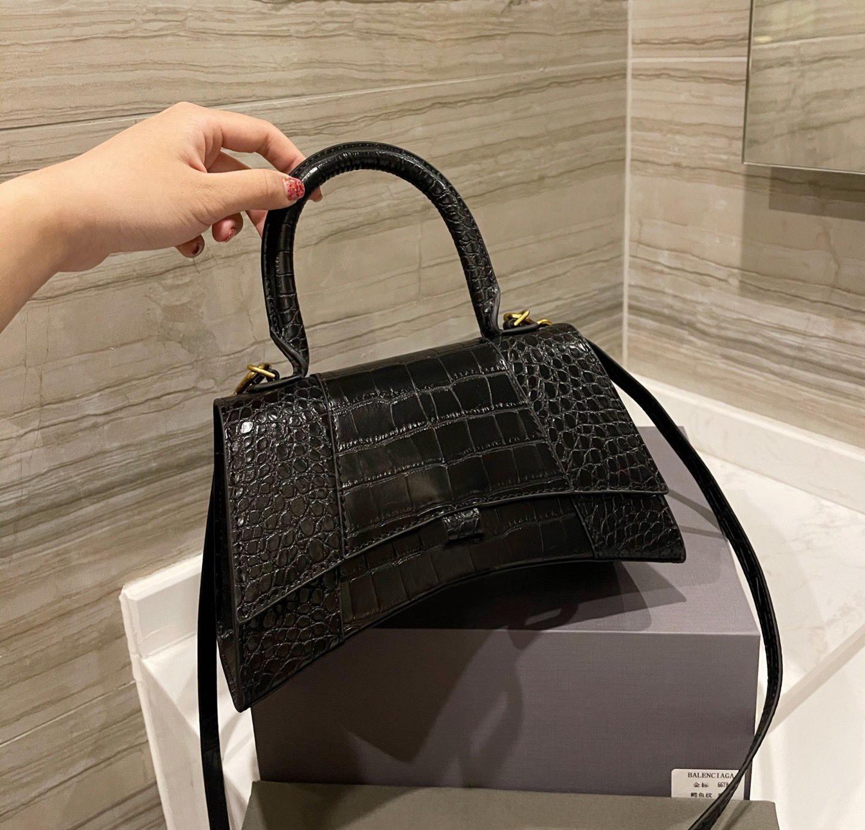Luxury Designer Hourglass Bag Ladies Crocodile Pattern Shoulder Bag Leather Ladies Hourglass Handbag Women Totes Purses Classic Crossbody Bag Tote