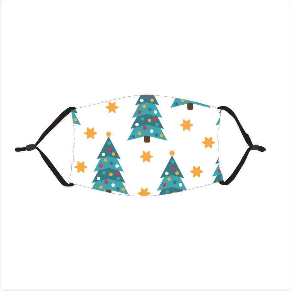 US STOCK Fashion Christmas Party Masks 3D Printing Adults Kids Face Masks Washable Reusable Cotton Anti Dust Mouth Cover With Filter FY4260