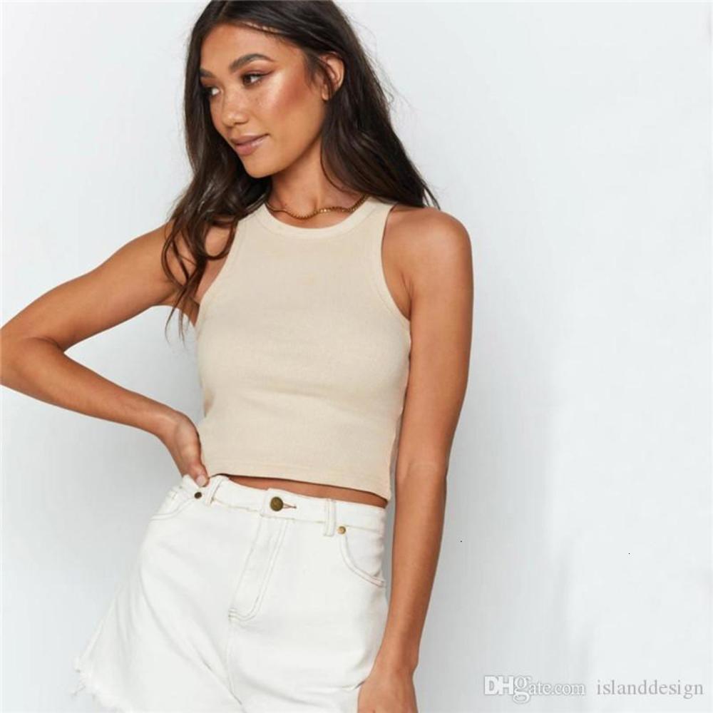 Tank Top Fashion Natural Color Tank Top Casual Sleeveless Halter Tank Top Woemn Clothing Womens Designer Short