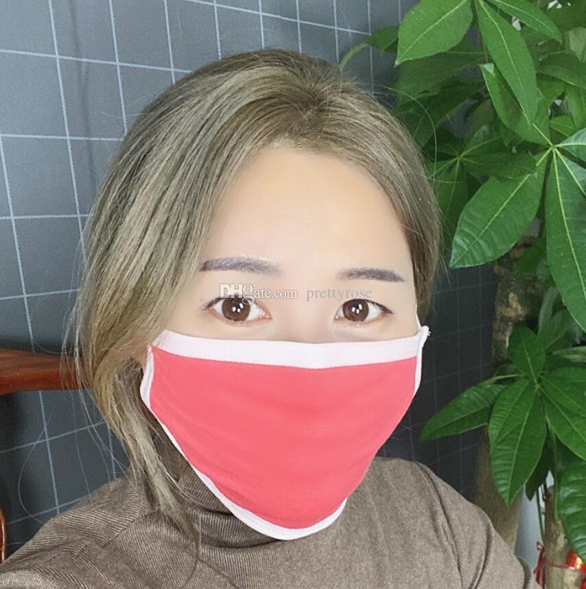 Fashion Cartoon Cute Cotton Mask Respirator Dustproof Keep Warm Cotton Festival Party Cute Mask Protective Reusable 3 Layers