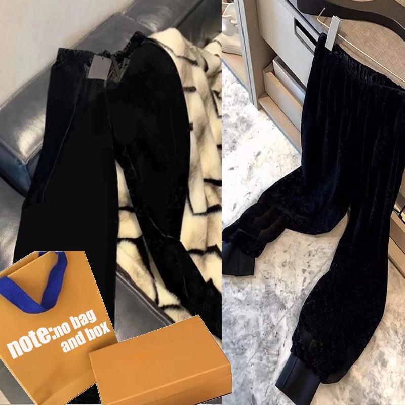 Women Pants Girl Elastic Waist Pant Woman Velour Trousers Harem Pants Autumn Fashion Trendy Spring Long Pants Letter Print Trousers Ins