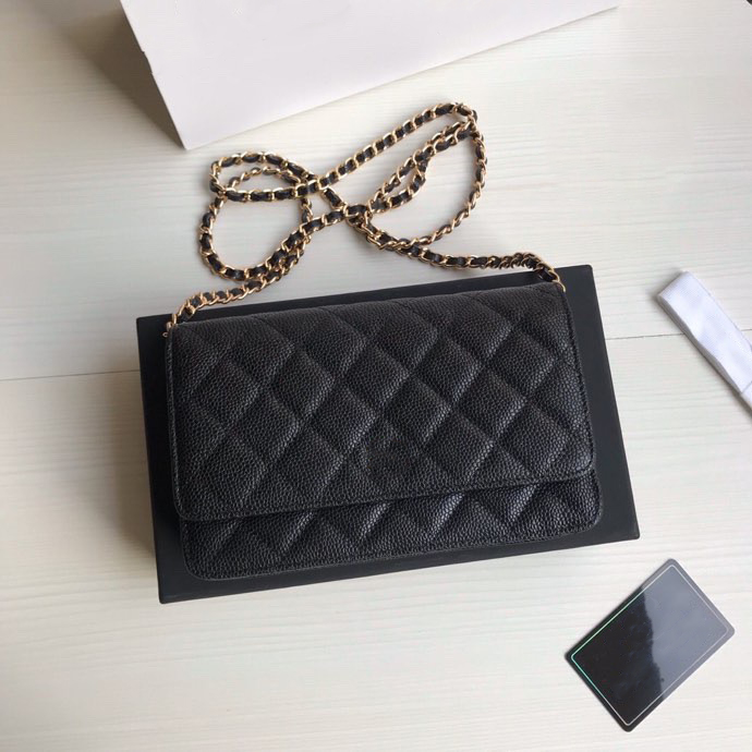 New Hot sold Top quality luxurys Designers shoulder bags Classic women purses chain crossbody bag genuinel leather womens wallet with box