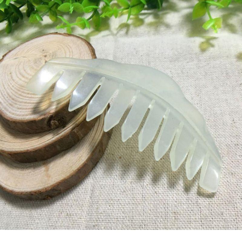 Natural Jade Stone Gua Sha Massage Comb Head Acpuncture Pressure Therapy Scraper Q0kd Natu jlltfj