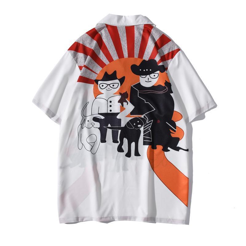 Hawaiian Shirt Men Vintage Streetwear Men's Shirts Short Sleeve Summer Male Top