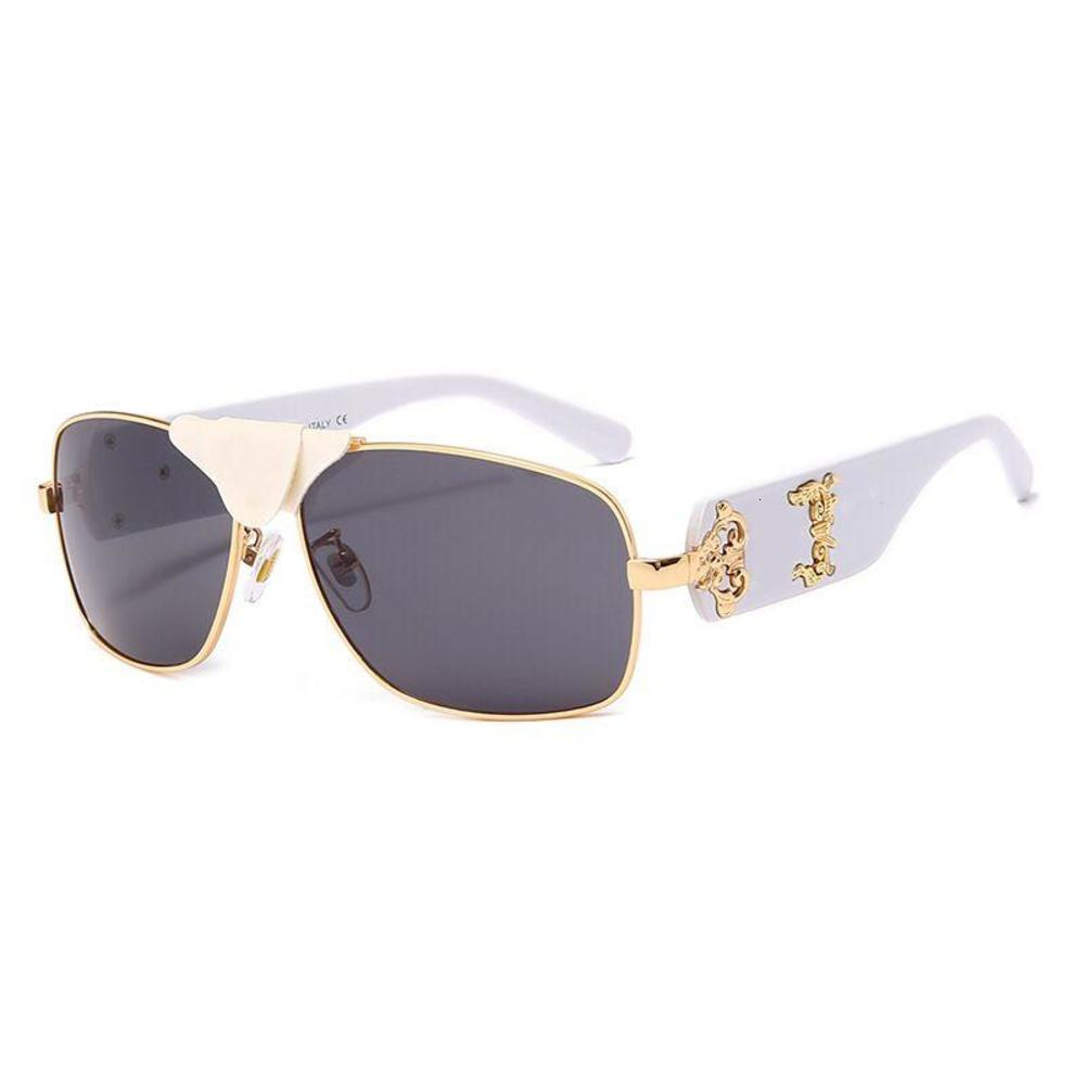 Mens Squared Baroque2207 Gold-Black /Leather Sunglasses Cycling Eyewear Men Fashion Polarized Sunglasses Outdoor Sport Glasses With Package