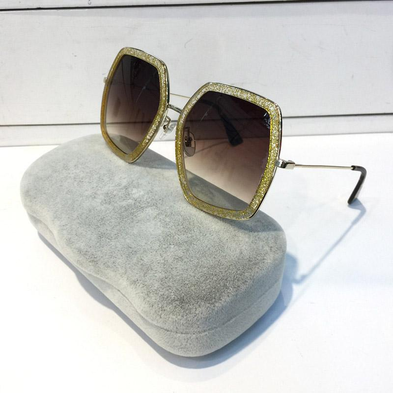 Fashion 0106S Women Sunglasses Square Big Frame Summer generous Style Glasses Mixed Color Frame Top Quality UV Protection popular 0106