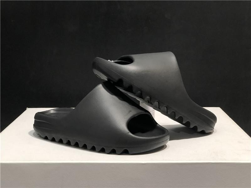 Kanye West Slide Resin Slippers Bone Desert Sand Earth Brown Black Slides Designer Fashion Sandal Beach Sandals Shoes With Box