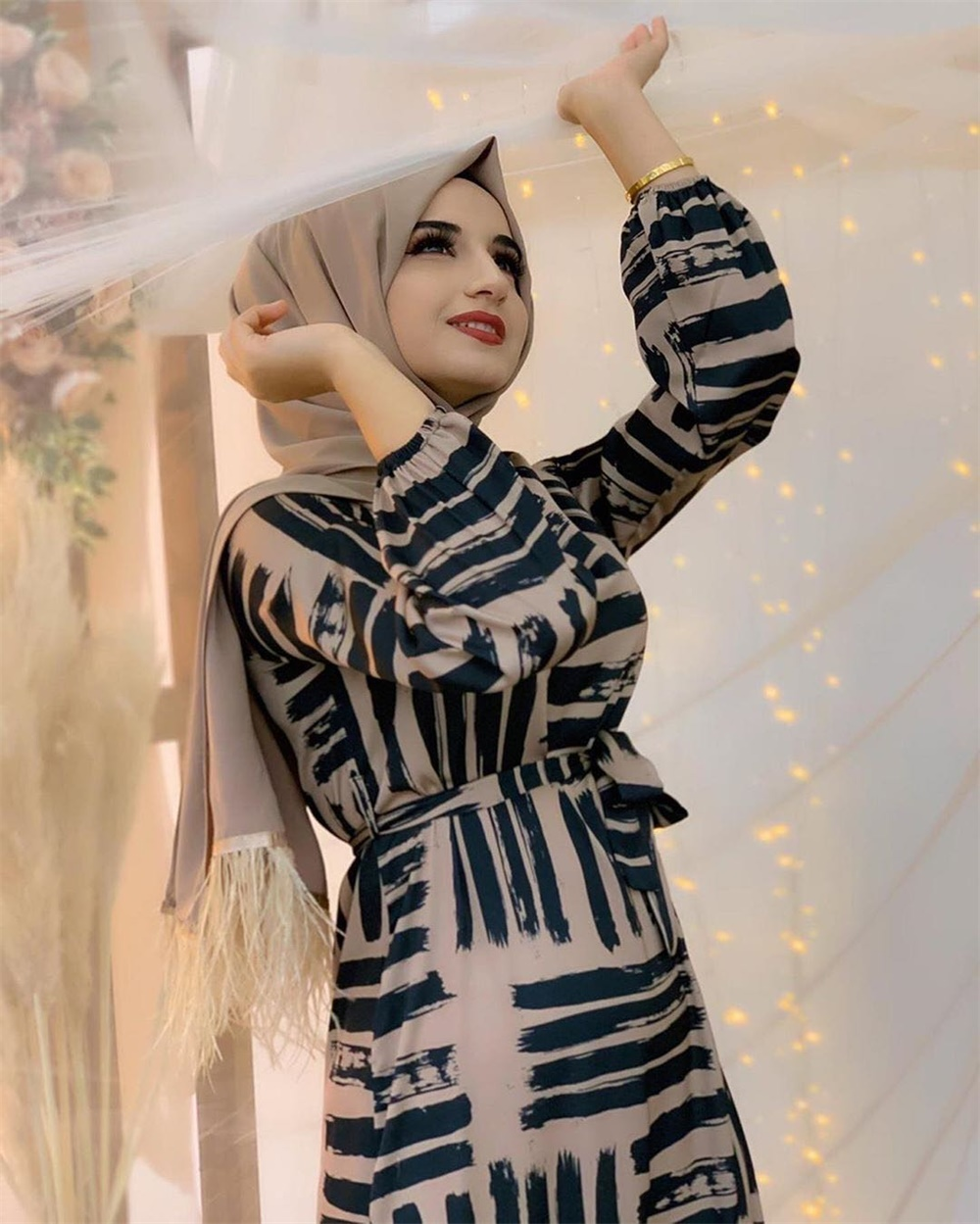 Eid Mubarek Muslim Fashion Dubai Abaya Turkey Hijab Summer Dress Kaftan Caftan Islam Clothing For Women Robe Femme Ete Vestidos (5)