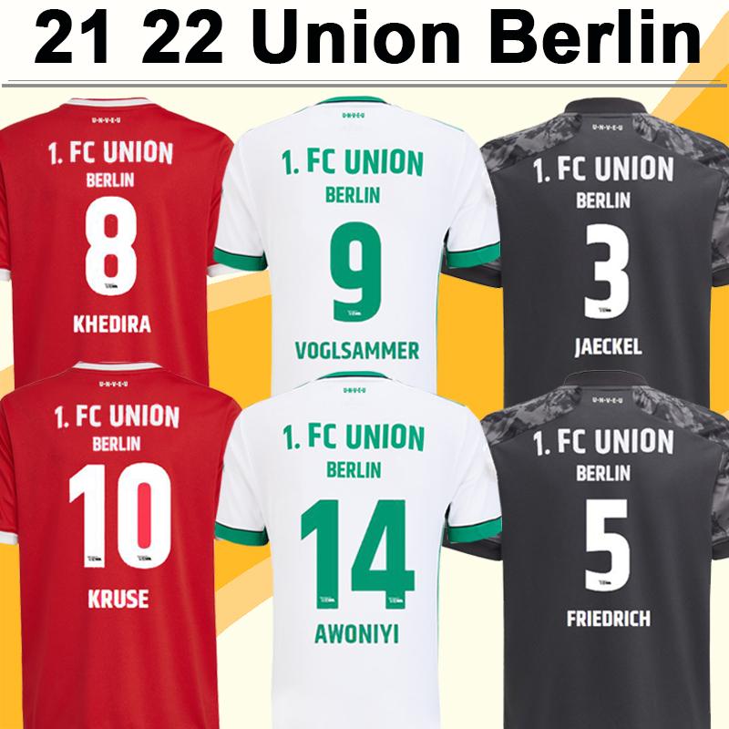 2021 2022 Union Berlin ENDO Mens Soccer Jerseys KRUSE HARAGUCHI KHEDIRA TRIMMEL Home Red Away 3rd White Football Shirt Short Sleeve Uniforms