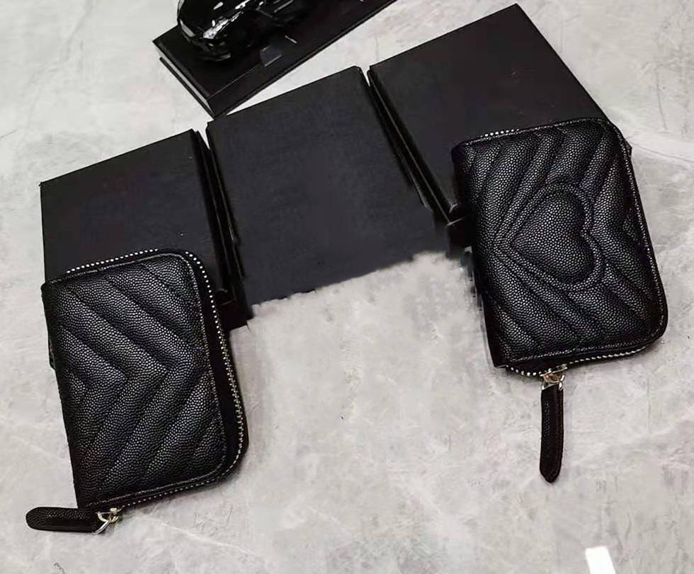 Men Women Wallets Real Leather Cardholder Pocket Cardholder Short Wallet Money Zipper Pouch Coin Purse Card Holder Clutch Shoulder Bag