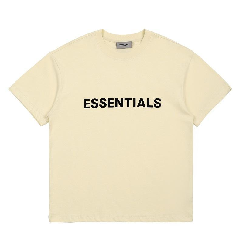 20ss Ins Hot Spring Summer Hip Hop  Front Essentials 3D Silicon Tee Skateboard Tshirt Fog Men Women Short Sleeve Casual T Shirt