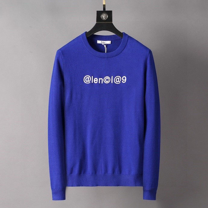 hot Men's sweater letter embroidery knit sweater winter sports shirt round neck round neck long sleeve sweater female designer hoodie