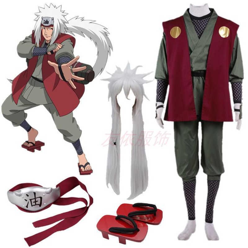 Anime cosplay Jiraiya Cosplay Kimono suit Costume Whole Set comic cosplay Halloween costumes G0913