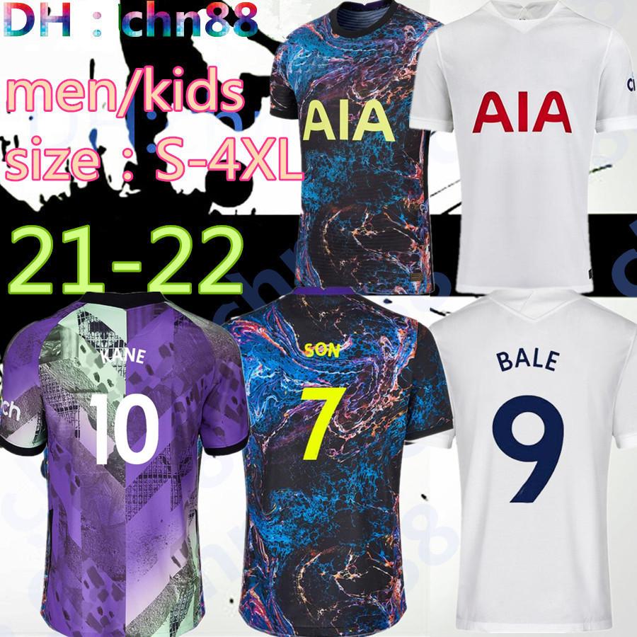 size:S-4XL Men + KIDS 21 22 KANE SON BERGWIJN NDOMBELE Soccer Jerseys 2021 2022 LUCAS DELE TOTTENHAM jersey Football kit shirt LO CELSO BALE