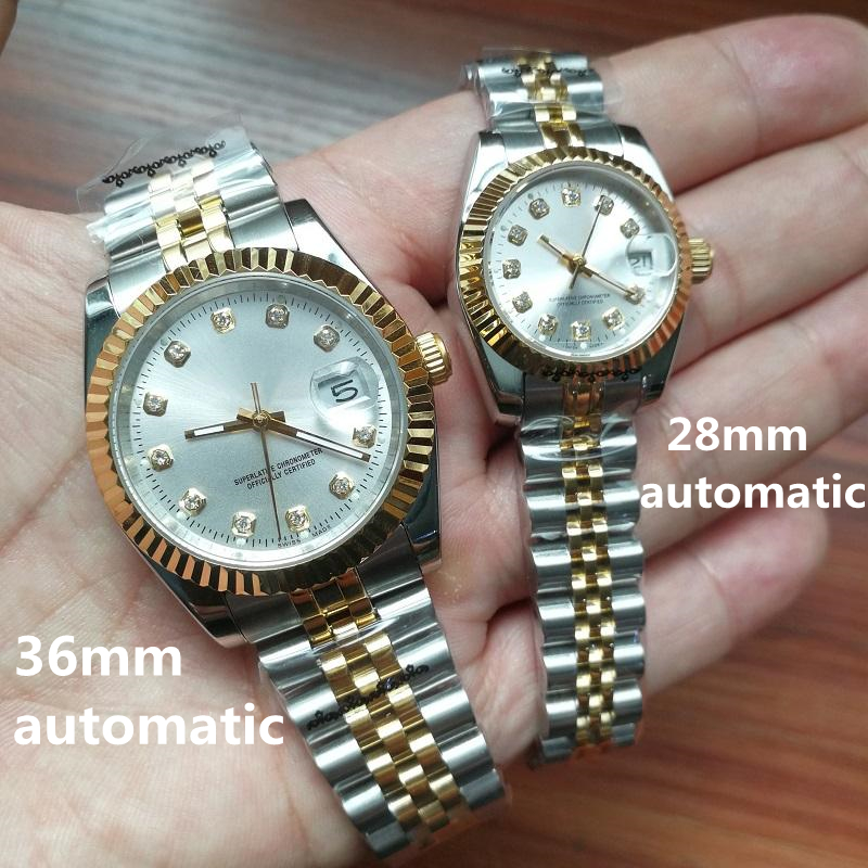 Men Mens Women Womens Couples Watch Watches Lovers 28mm/36mm Classic 2813 Automatic Movement Mechanical Lady Wristwatches 2021