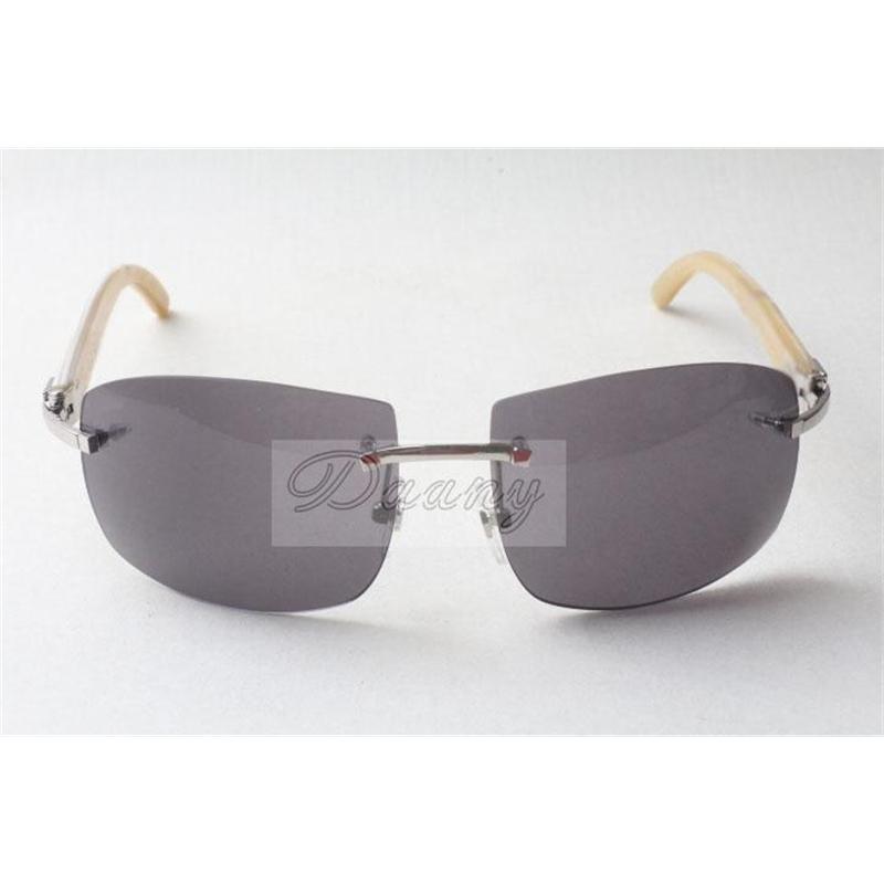 Hot high-end fashion sunglasses, men and women pilots sunglasses, 4189705-A natural white horn sunglasses, size: 62-18-140mm
