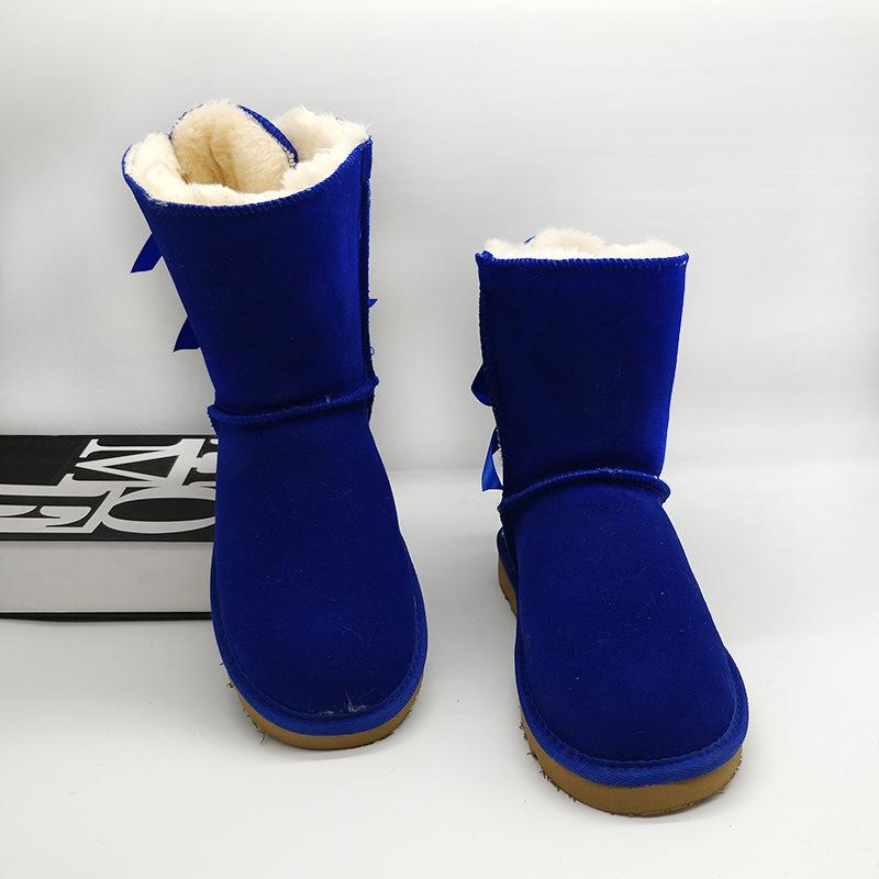 2021 New designer classic wgg short bailey bow tall button triplet Australia womens women boot winter snow boots fur furry Australian kkkk