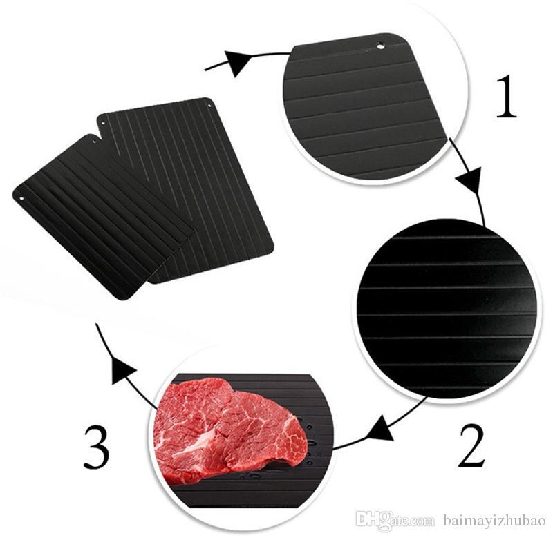 Defrosting Tool Tray for Frozen Food Thawing Plate Defrost Meat/Frozen Quickly without Electricity Microwave Water or Any Other