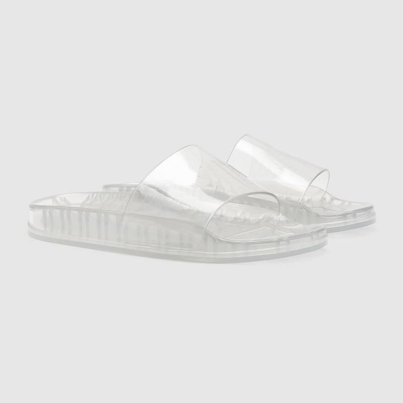 2021 Season mens womens fashion pool flat slippers white clear transparent glow in dark rubber slide sandals 35-45