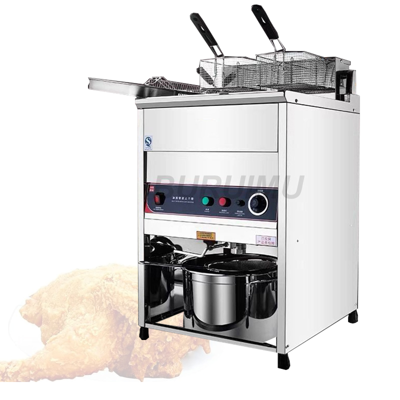 Vertical Gas Deep Frying Machine Single-Tank Commerical Oil Fryer Fried Chicken Maker Crispy French Fries Manufacturer