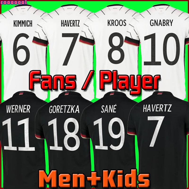 2021-2022 Fans Player version Germany soccer jersey WERNER HAVERTZ SANE MULLER HUMMELS GNABRY GORETZKA REUS European Cup football shirt unif