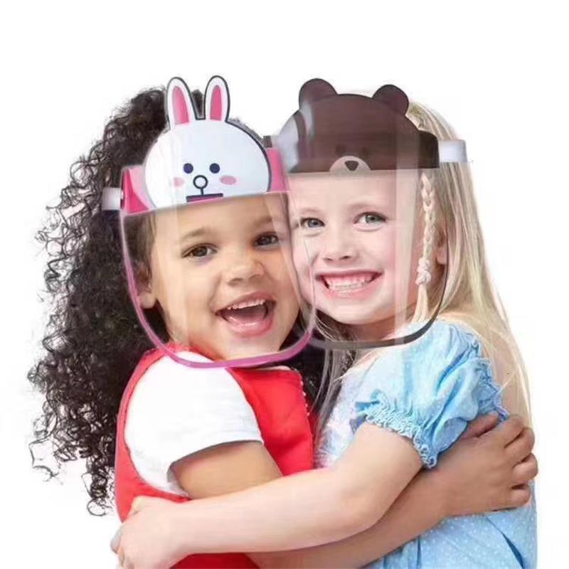 2020 Kids Protective Mask Children Protection Multi-Function Oil-Splash Proof Transparent Face Cover Dust Face Shield