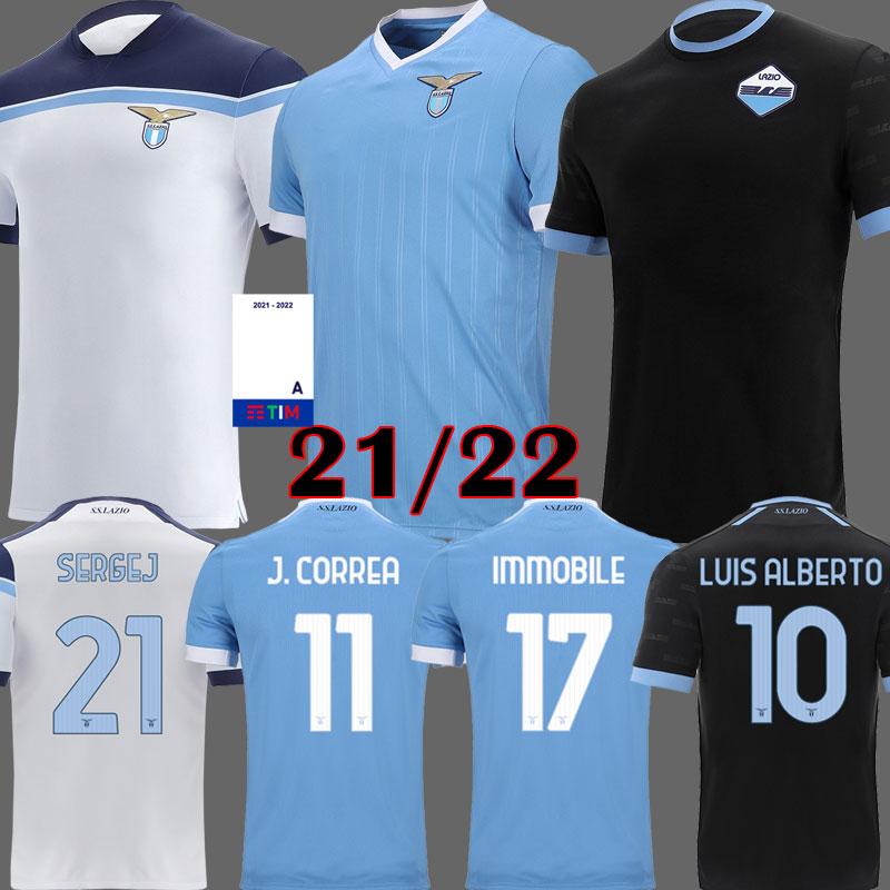 21 22 Lazio soccer jersey 2021 2022 Lazio anniversary football shirt Black LUIS ALBERTO IMMOBILE SERGEJ Men Kids kits maillot maglia da calcio