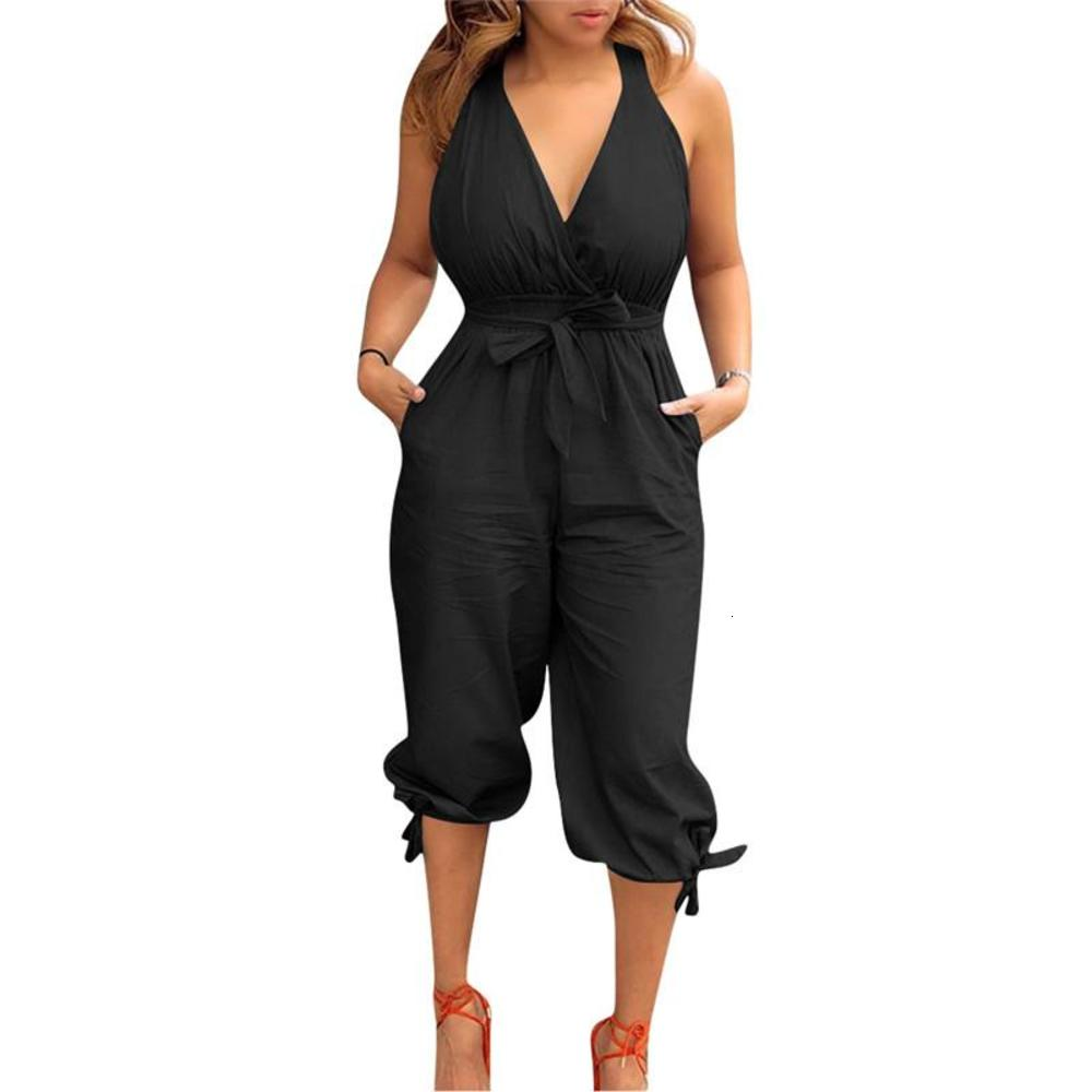 New Sexy Capris Womens Romper Fashion Soild Color Loose Jumpsuits Backless Sexy Bandage Designer Womens Clothing