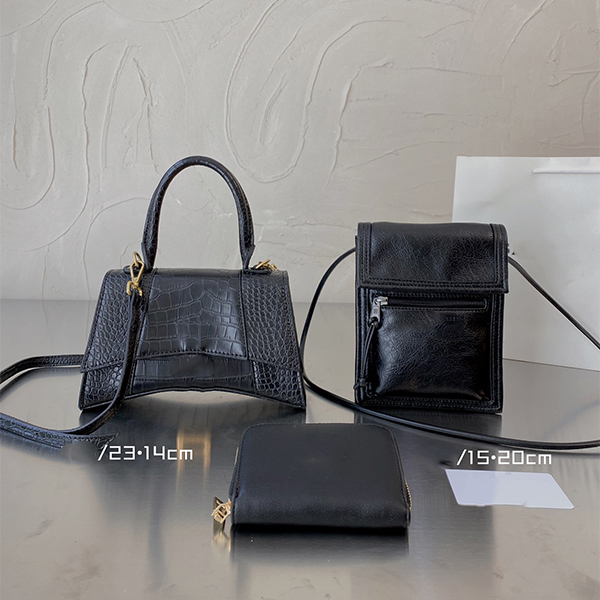 2021 Timed Specials Fashion Women's Shoulder Bags Hourglass Luxury Lady HandBag Wallet Purse Designer Bag Gold Metal Patent Alligator Leather 3 Pieces Free Delivery