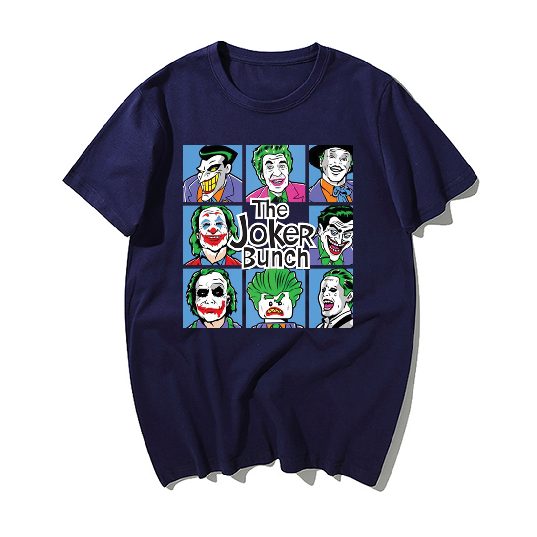 Funny Jokers T Shirt Men Fashion The Joker Bunch Print Tshirt Summer Hip Hop Tops Streetwear Casual Cotton Short Sleeve Tshirts