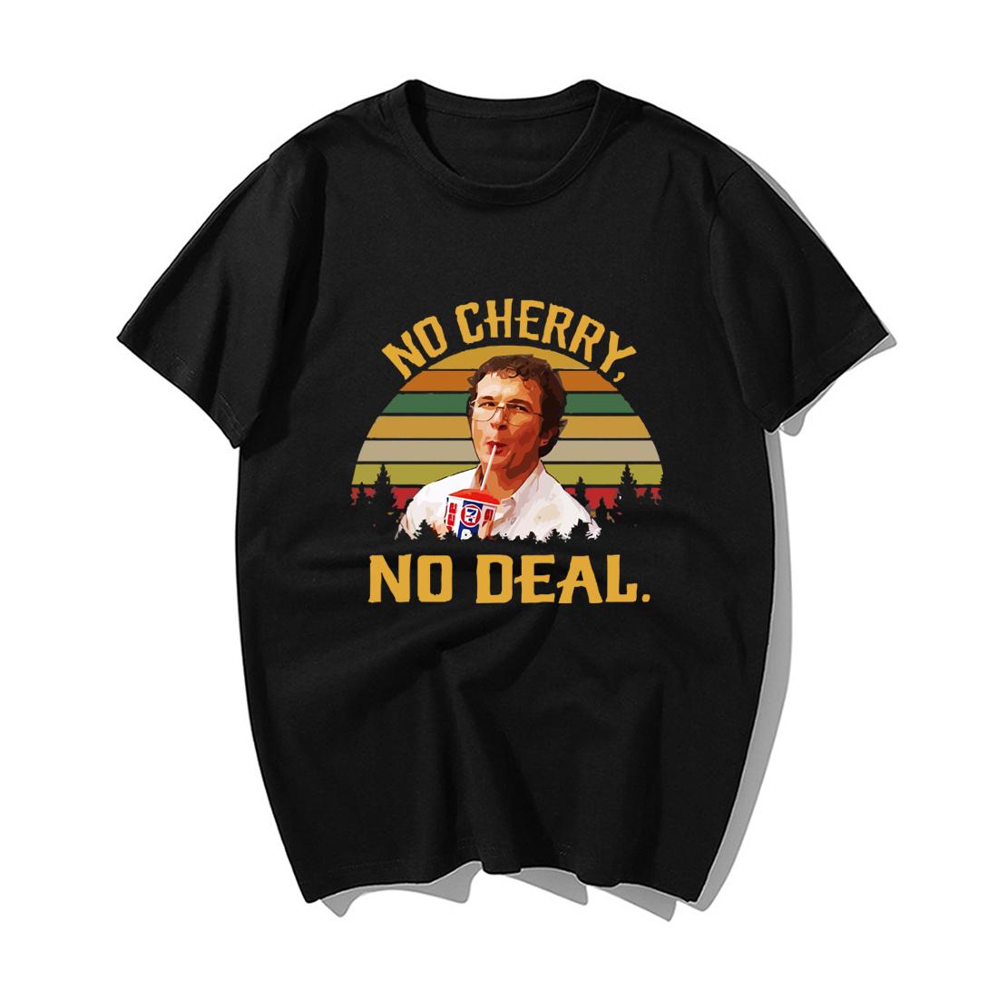 2019 Fashion Stranger Things T Shirt No Cherry No Deal Funny Men Tshirt Summer Casual Cotton Hip Hop Tops Streetwear