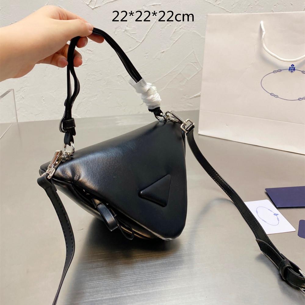 2021 Designers Women Triangle Handbags Shoulder Bags Fashion Small Triangle Purses Crossbody Phone Bag Lady Totes High Quality Autumn Winter