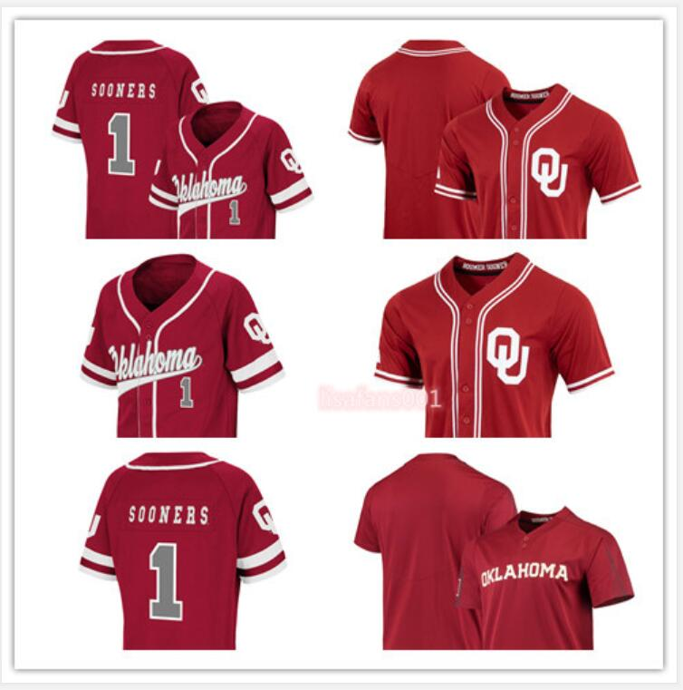 Baseball jerseys Oklahoma Sooners Vapor Elite Two-Button Jersey Custom Men Women Youth College Stitched Game Player Limited Embroider Sports Wear