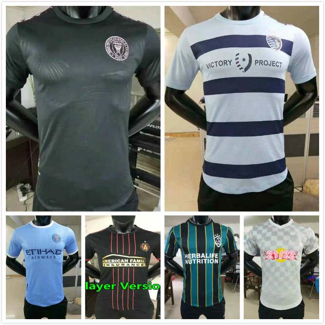 MLS Player Version 21 22 LA Galaxy soccer jersey 2021 2022 Atlanta United Sporting Kansas City Inter Miami football shirts Beckham