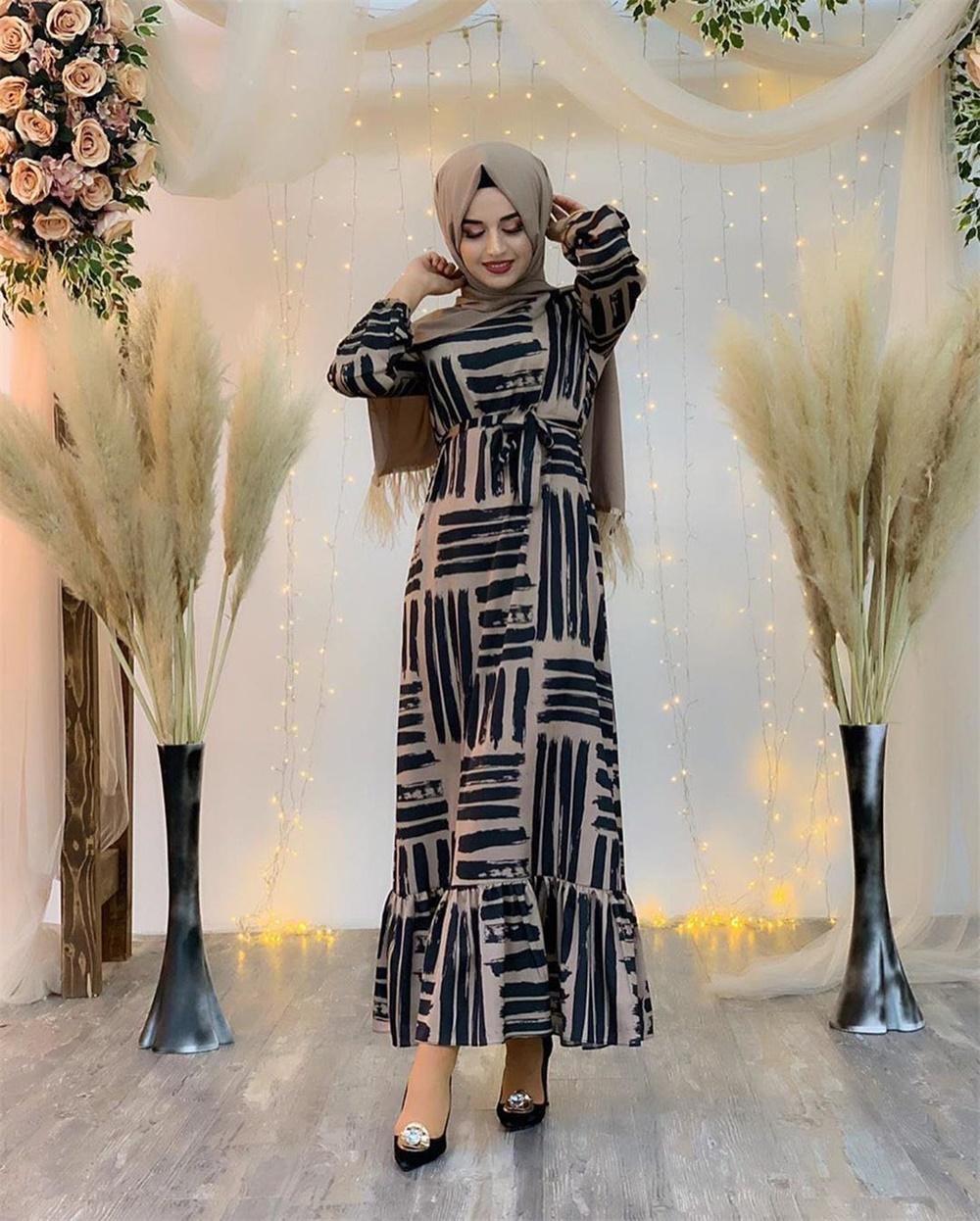 Eid Mubarek Muslim Fashion Dubai Abaya Turkey Hijab Summer Dress Kaftan Caftan Islam Clothing For Women Robe Femme Ete Vestidos (9)