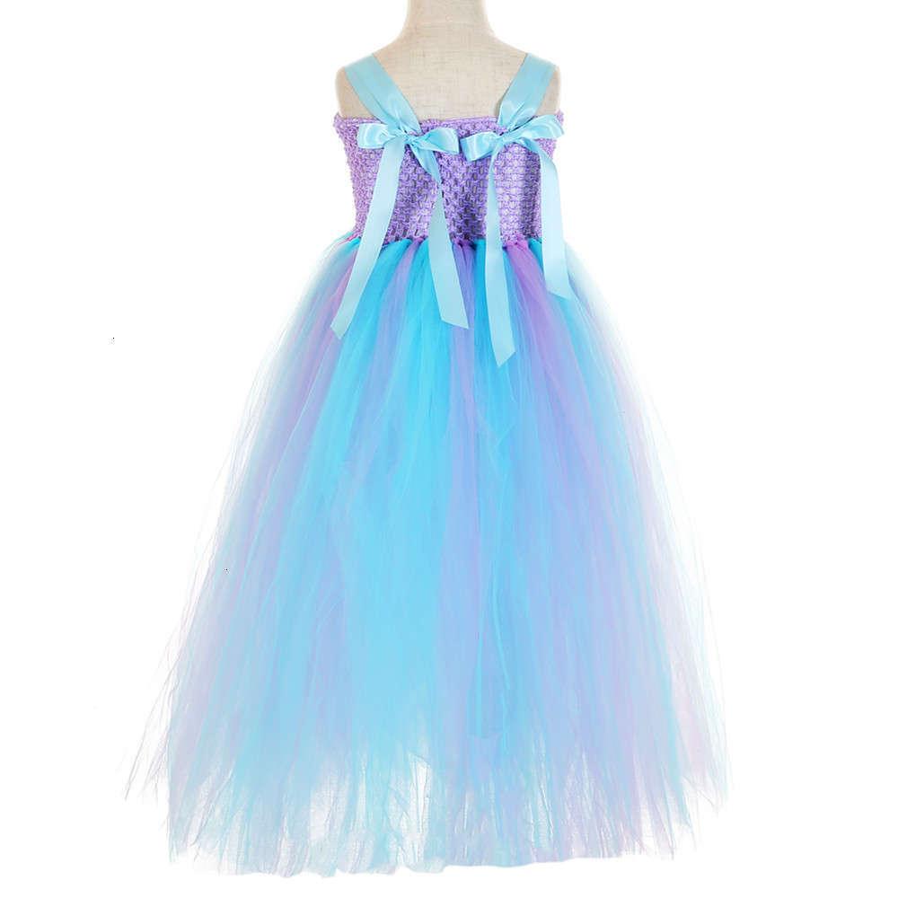 QUALITY Unicorn Mermaid Flower Girls toddler Fancy Princess Dress Size 1-12Y with Headband Birthday Gift