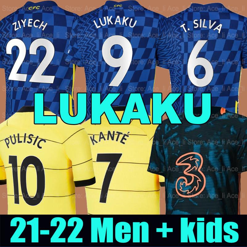 LUKAKU 21 22 CHELsea Soccer Jerseys MOUNT WERNER HAVERTZ CHILWELL ZIYECH 2021 2022 PULISIC home blue away yellow Football Shirt KANTE Men Kids set Kits tops