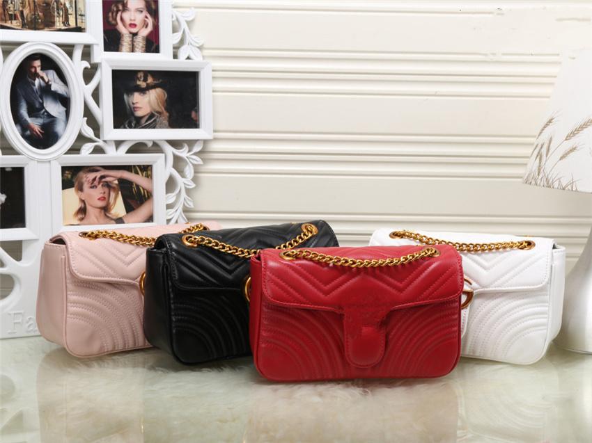 High Quality Luxury Designer Fashion Shoulder Bags Classic Leather Heart Style Gold Chain Women Handbag Tote Messenger Handbags