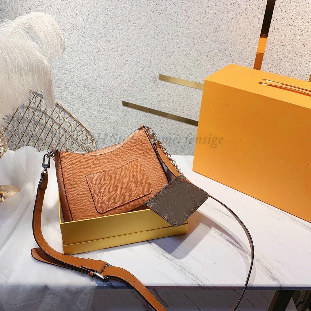 Marelle handbag with a detachable canvas pouch Chain Wallet women Fashion Desingers Handle Bag leather shoulder bags Mini purse Crossbody M80794 M80689 M80688