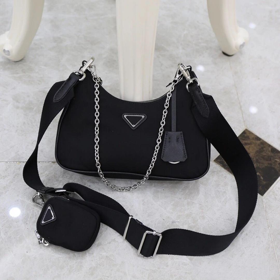 Ladies high quality messenger bag designer classic nylon fashion trend best-selling ladies luxury classic three-in-one messenger shoulder bag