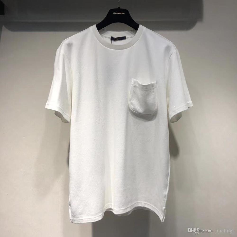 2020 Summer fashion mens designer pocket decoration t shirts OVERSIZE ~ US SIZE tshirts ~ mens new designer short sleeve t shirts