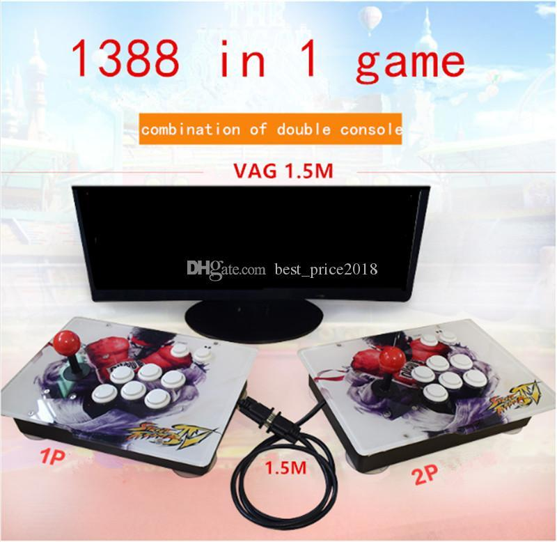 Hot pandora 5S Can Store 1299 1388 game Home Arcade Game Console combination control for TV & Monitor Support VGA Output
