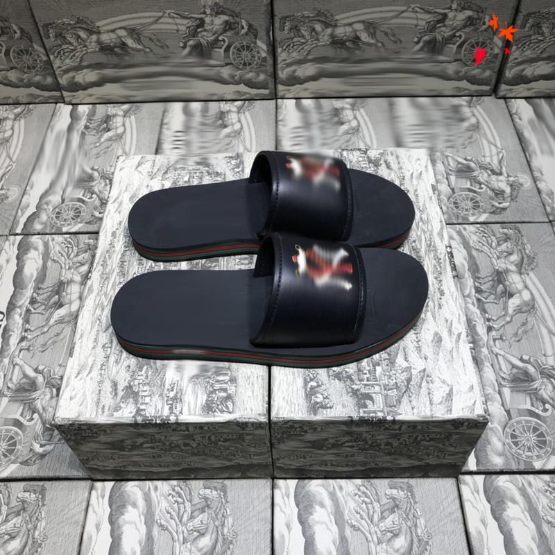 2021 Designer men slippers fashion Beach Thick bottom slipper flip flops luxury platform Alphabet mens Sandals Leather slippery Large with box size 39-45 -K214