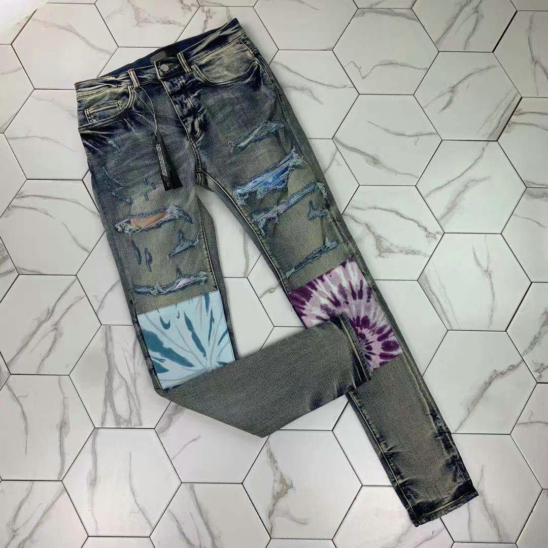 phm338 Men's Distressed Ripped Skinny Jeans Fashion Mens Jeans Slim Motorcycle Moto Biker Causal Mens Denim Pants Hip Hop Men Jeans