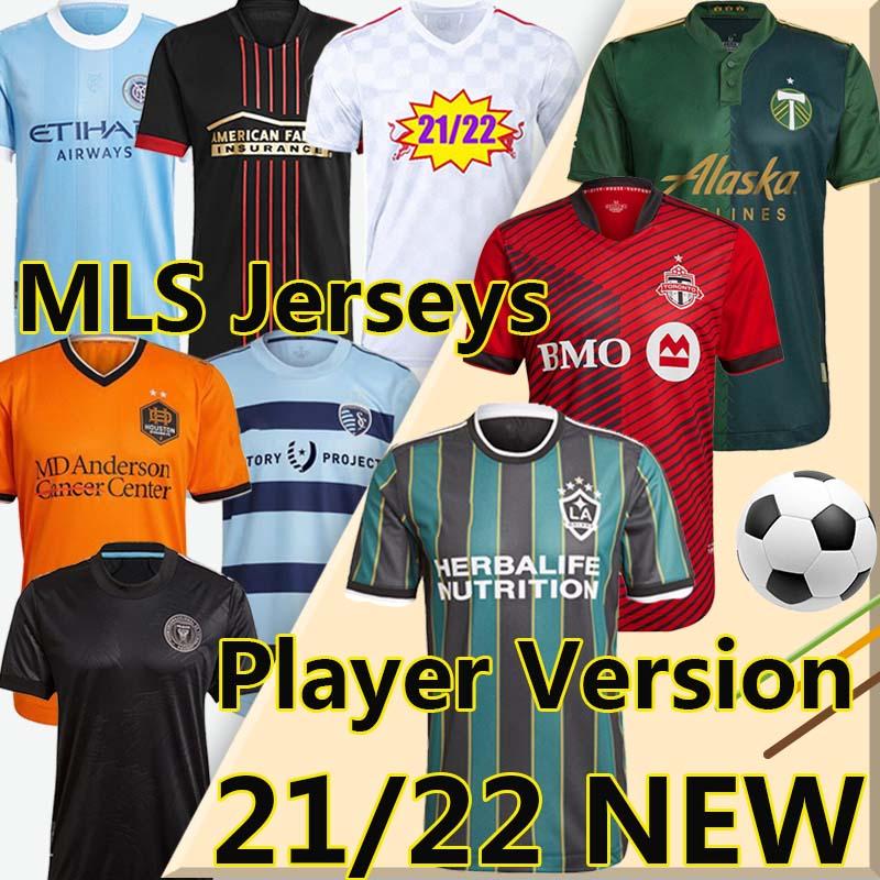 MLS 21 22 LA Galaxy soccer jersey Player Version 2021 2022 Atlanta United Sporting Kansas City Inter Miami New York City Toronto football shirts Beckham