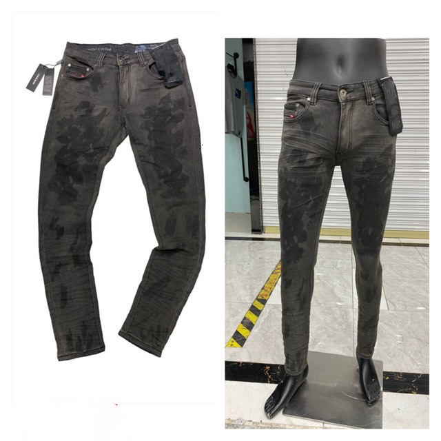 Selling Mens skinny jeans light blue distressed track suit for man with zip ripped knee Long Straight Mid skinny motorcycle jeans plus size