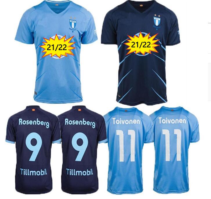 21 22 Malmö FF soccer jersey 2021 2022 Malmo Camisetas Ola Toivonen Anders Christiansen Isaac Kiese Thelin Markus Rosenberg Jonas Knudsen home away football shirts