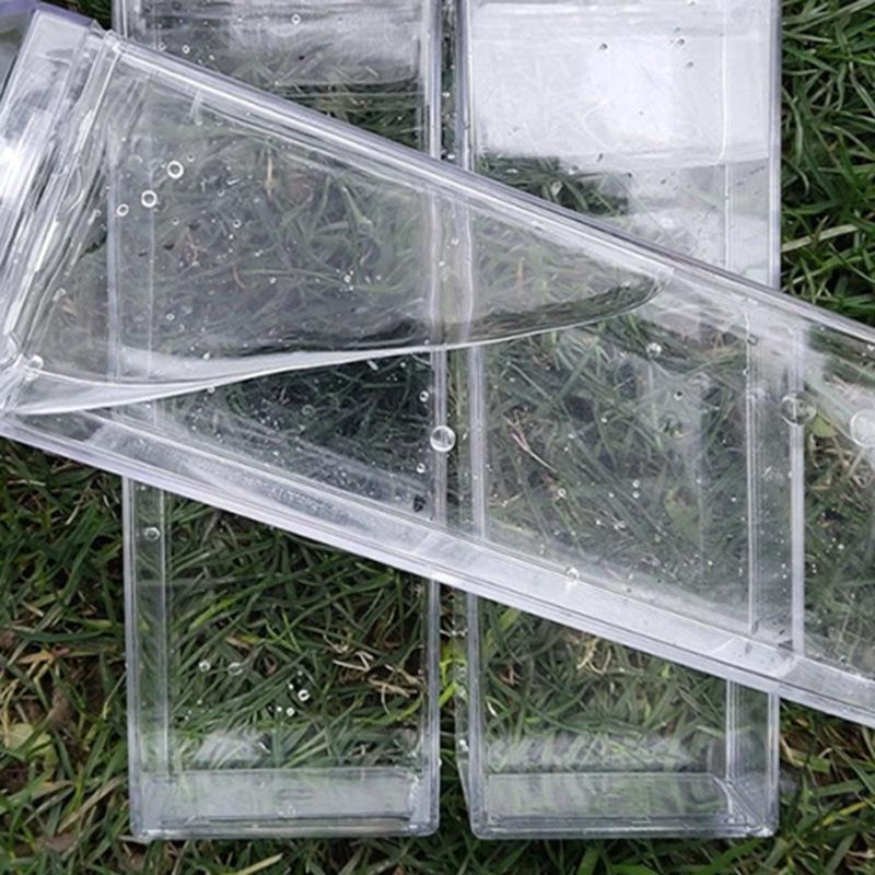 Milk Carton Water Bottle 500ml Transparent Square High Capacity Cup Plastic Coffee Drink Mug Originality 5 8js F2